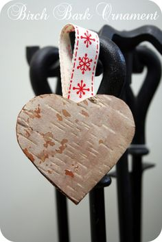 Rustic Birch ornament