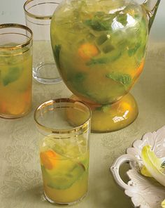Kumquat Mojitos - Martha Stewart Recipes - don't know if I have the patience to seed 48 kumquats, but this looks delicious.