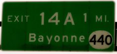 """N.J. turnpike Exit 14A Bayonne, New Jersey.. I lived in Jersey City, """"Country Village""""  Very close to Bayonne, we would walk to the bus station and go to Broadway in Bayonne to shop. The good ole days.  (lived off rt.440)"""