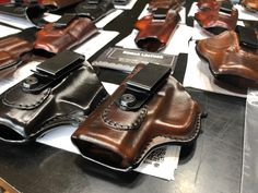 Holsters for #glock19 #p365 #mpshield #bodyguard #lcp #lc9 #vp9sk #1911 #springfield #glock #kusiakleather Leather Iwb Holster, Concealed Carry Holsters, Gun Holster, M&p Shield, Everyday Carry, Minimalist, Boots, Fashion, Crotch Boots