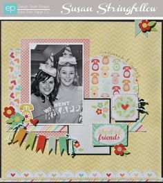 The Best of Friends Layout from The Best of Friends Mini Theme. #echoparkpaper