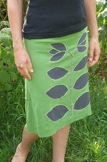 skirt applique