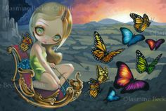 Butterfly Chariot - by Jasmine Beckett-Griffith