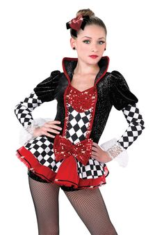 A Wish Come True Dance 2016 : Queen Of Hearts - Character Themed - Dance Costume Duo Costumes, Cute Dance Costumes, Costume Ideas, Queen Of Hearts Costume, Dance Dreams, Hip Hop, Dance Pictures, Dance Photography, Ballet
