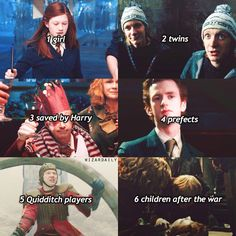Why! Was the last necessary?! The 7 Weasley children