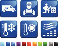Heating and Cooling System Repair sticker set