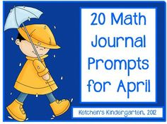 Free April Math Journals - for K/1
