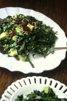 Kale Salad with Avocado, Pepitas, and Cranberries #summerfest