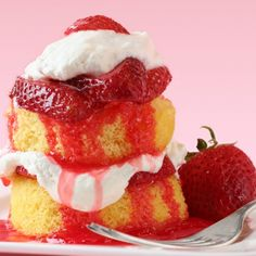 A Sweet and simple recipe for mini strawberry sponge cakes.. Mini Sponge Cakes With Strawberries and Cream. Recipe from Grandmothers Kitchen.