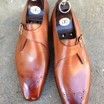 Handmade+Men's+Loafer+Shoes,Men's+Plain+Tan+Brown+Leather+Formal+Loafer+Shoes Description+ Condition+New+With+Box+ oxford+wing+tip+shoes Shoes+upper+material+Genuine+leather Handmade+Dress+Sho Mens Loafers Shoes, Loafer Shoes, Men's Shoes, Shoe Boots, Dress Shoes, Dress Clothes, Shoes Men, Ankle Boots, High Boots