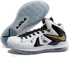1343d9ad9fe3 Sale Discount Nike LeBron X PS Elite White Metallic Gold - Black Basketball  Shoes Shop