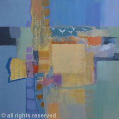 Flight by Sheila Marlborough - Acrylic & collage on canvas