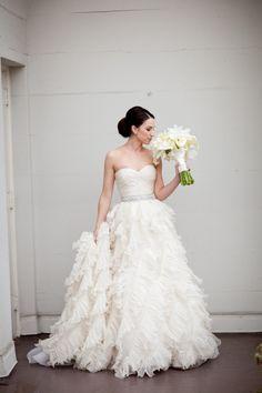 Wedding Dress + Belt: Oscar de la Renta