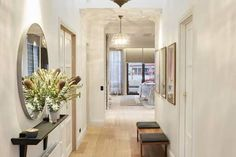 Small Hallways, Entry Way Design, Entry Hallway, Kitchen Benches, Home Reno, My Dream Home, Sweet Home, New Homes, Interior Design