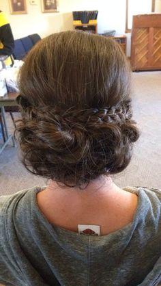 Wedding hair! #braids