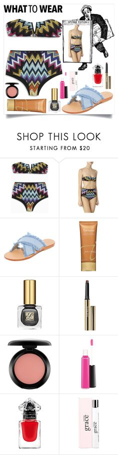"""What to wear"" by camry-brynn ❤ liked on Polyvore featuring Missoni, Mystique, Jane Iredale, Estée Lauder, Trish McEvoy, MAC Cosmetics, Guerlain and philosophy"
