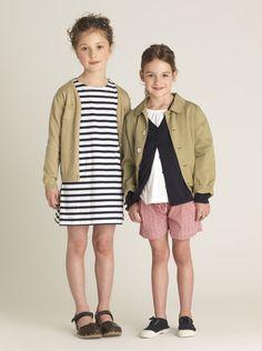 Desert Sand And Nautical Stripes - Designer Girls Fashion Looks from Elias & Grace