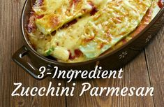 Easy Zucchini Parmesan | Weight Watchers Recipes