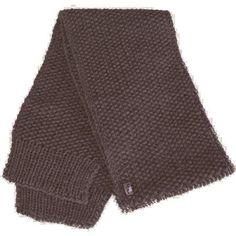 Echarpe marron en laine
