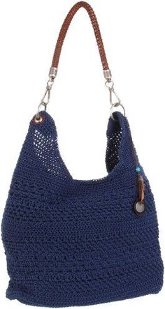 The SAK Bennet Crochet Bucket Hobo,Denim,One Size The Sak: