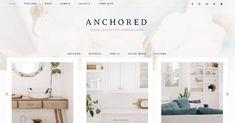 Anchored - A Genesis Framework WordPress Theme Top Wordpress Themes, New Theme, Layout Template, Feminine Style, Color Change, Anchor, Girly, Children, Home Decor