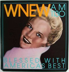 Peggy Lee WNEW AM1130 1970 $300 21x22in/53.3x56cm PosterMuseum.com by Philip Williams Posters NYC