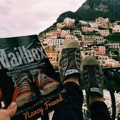 """""""it's the magic calm, quiet space and healthy gaps in time that let you breathe a little and think about the dream you just had and are sort of still having, or about the day you're about to have and are sort of already having"""" ✨ #inbetween #mailbox #helloinstagram #sirenland #amalfi #converse"""