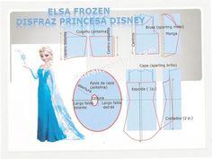 DIY Elsa Frozen Princesa Disney disfraz.Tema 115