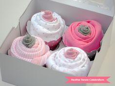 Des cupcakes fait avec des bodies!! Idées de présentation génialissime!!!