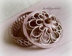 Шкатулка круглая из джута для украшений.Декоративная шкатулка своими руками.Ювелирная шкатулка для хранения.Красивая шкатулка.