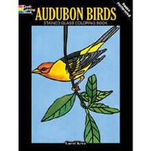 Audubon Birds Stained Glass Coloring Book Book