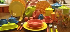Made in America dinnerware by Fiesta! I would love to register for this when I get married