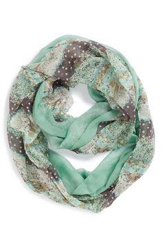 Such a pretty mint infinity scarf.