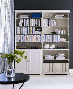 ikea liatorp white wood bookcase
