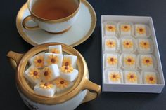Decorated sugar cubes - sunflowers.
