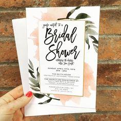 Botanical Bridal Shower Invitations from yours truly! https://www.etsy.com/listing/285453231/botanical-bridal-shower-invites-set-of