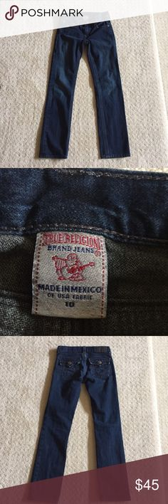 True Religion boys dark denim Trendy boys straight leg jeans. Barely worn no holes or stains True Religion Bottoms Jeans
