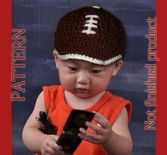 Crochet Pattern 46  Football Cap Baseball Cap  Newborn by Cathyren, $3.99