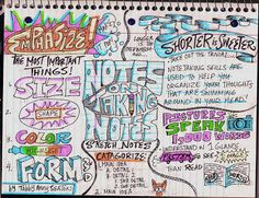 The Lost Sock : Notes on Taking Notes- Sketch Notes