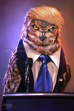 USA elections 2016 - Donowl Trump by 4steex.deviantart.com on @DeviantArt