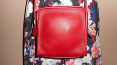 COACH Red Leather 6 x 6 Shoulder Bag USA #G9D-9139 by COACHCROSSING on Etsy