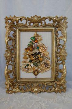 ♥ antiquegonechic vintage jewel Christmas tree