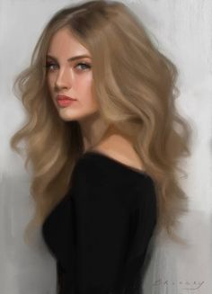Painted this one in Procreate on the iPad Pro. I have this time-lapse and painting tips in my new portrait class on Skillshare: Painting in Procreate Female Character Inspiration, Female Character Design, Girls Characters, Female Characters, Tsunade Wallpaper, Digital Art Girl, Blonde Women, Character Portraits, Female Art