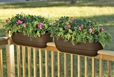 Ideas For Deck Railing Planters Containers