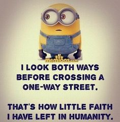 "These Funny and humor Minion are full updated and in new style.Just scroll down and keep reading these ""Top Minions New Quotes"" for laughing and share with your friends for make him laugh also. Funny Minion Pictures, Funny Minion Memes, Minions Quotes, Funny Relatable Memes, Memes Humor, Funny Texts, Funny Jokes, Minion Sayings, Minions Love"