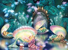 Mermaid Wall Art, Mermaid Drawings, Mermaid Shell, Fantasy Mermaids, Mermaids And Mermen, Art Vampire, Vampire Knight, Fantasy Kunst, Fantasy Art
