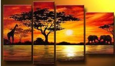 Hand painted sunset