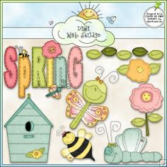 Spring Stitches 1 - Exclusive Clip Art by Alice Smith