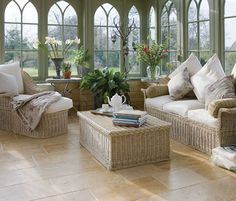 Classic Style: Conservatory a Glamorous Glazing. Don't you just dream of a nap in a conservatory?