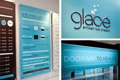 Glacé Ice Cream branding design by Nathaniel Cooper store design hotels and restaurants branding